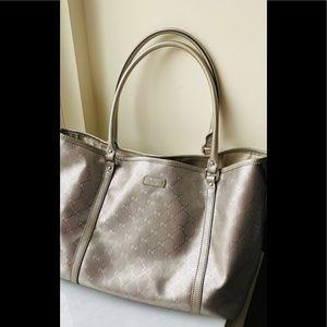 Gucci GG Imprime champagne silver Tote bag